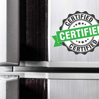 photo of appliance with certified label